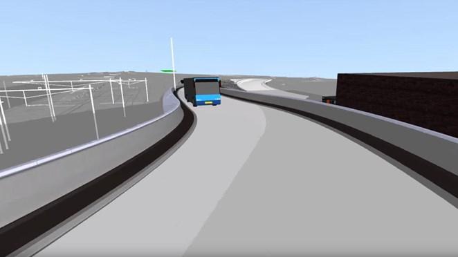 Maak alvast een virtueel ritje over de nieuwe busbrug in Zwolle