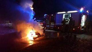 Scooter in brand in Hengelo