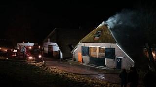 Brand in woonboerderij aan de IJsseldijk in Welsum