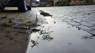 Ook waterleidingbreuk aan Provosoriestraat in Diepenheim
