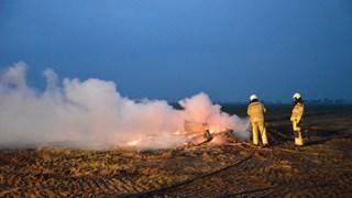 Schuur in Zuidveen in vlammen opgegaan