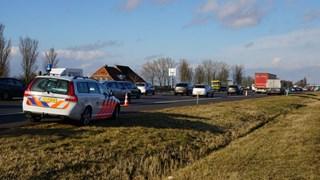Waardetranssport met pech langs de weg bij Zwolle