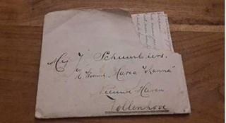 De 78 jaar oude liefdesbrief is terug in handen van de familie van de briefschrijver