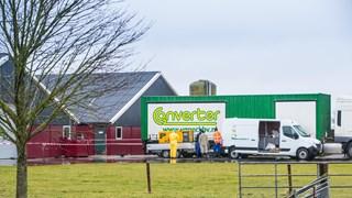 Het getroffen bedrijf in Kamperveen