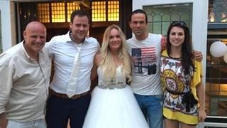 Bas Nijhuis op het bruiloftsfeest