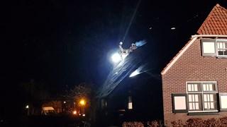 Brand in woning met rieten dak in Kallenkote bij Steenwijk