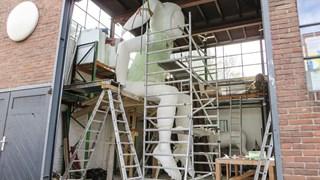 Pan in het atelier van de Spacecowboys