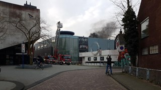 Brand bij discotheek Vios