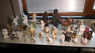 Verzameling gestolen grafbeeldjes
