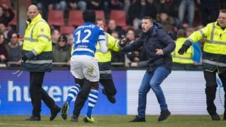 Supporters vielen na afloop spelers van De Graafschap aan