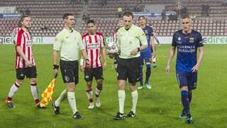 Jong PSV - GA Eagles werd dinsdag gestaakt