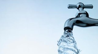 Waterkraan stockfoto