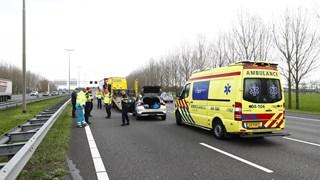Ongeluk op de A28 bij Zwolle
