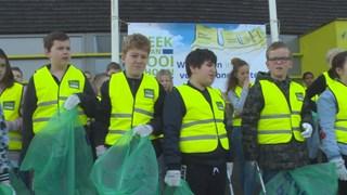 de schoonmaakploeg van de Prismaschool in Kampen
