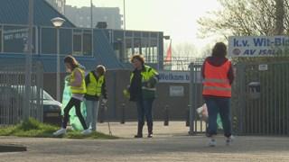Op zoek naar zwerfafval in Kampen