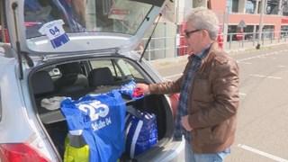 Henny ten Vergert van fanclub Blau und Weiss Enschede