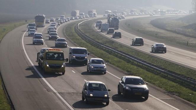 Dertig procent meer ongelukken op de A1, automobilisten zijn bang