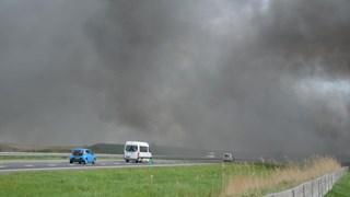 Rook ontneemt zich verkeer op A32