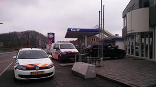 Het tankstation dat op 1 april werd overvallen