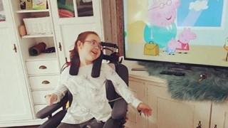 Een nieuwe televisie voor het gehandicapte meisje uit Glanerbrug