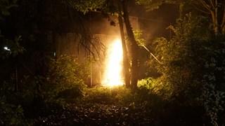 Er stond ook een doek bij een tennisvereniging in brand