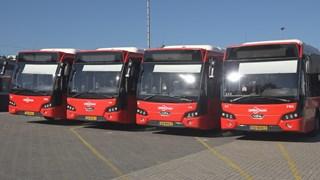 De bussen blijven in de remise