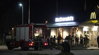 Brand op wc bij McDonalds