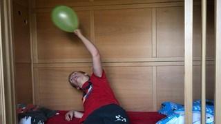 Marijn vindt balonnen wel leuk maar feestjes niet