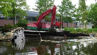 De berging van de Deventer woonboot