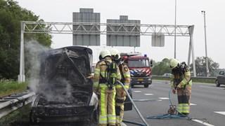 File door autobrand op A1