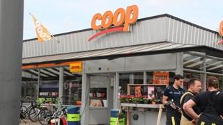 Brand in Supermarkt in Almelo