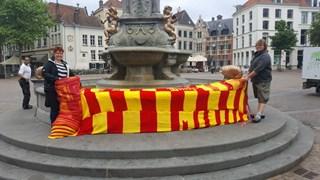 Gebreide sjaal voor Deventer Brink