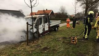 De medewerker stak zijn eigen bus in brand