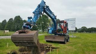 De aanleg van het fietspad in Punthorst is begonnen