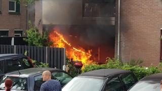 Uitslaande brand in Enschede
