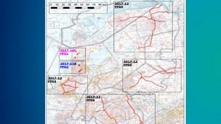 Kaart helikoptervluchten ProRail