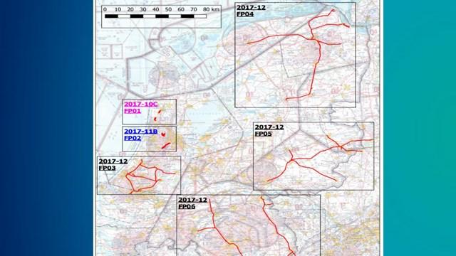 Kaart helikoptervluchten ProRail - fotograaf: ProRail