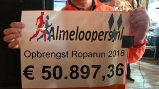 Het bedrag opgehaald door de Almeloopers, hoger dan ooit