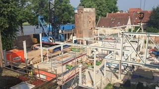 De contouren van filmtheater De Viking in Deventer worden langzaam zichtbaar