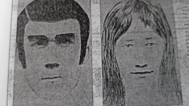 Compositietekening van de mogelijke daders van de \'Deventer Putmoord\' - fotograaf: politie
