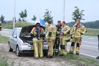 Autobrand bleek kokende motor