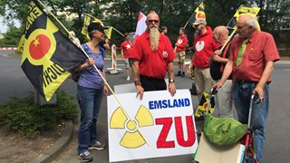 Acties bij de Duitse kerncentrale in Lingen vandaag