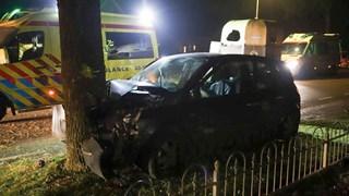 Auto is zwaar beschadigd