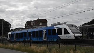 Kapotte trein op station Hardenberg