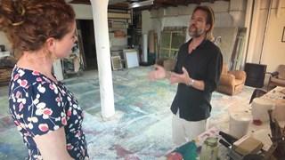 Jasper Krabbé in zijn atelier