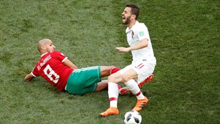 El Ahmadi in actie tegen Portugal