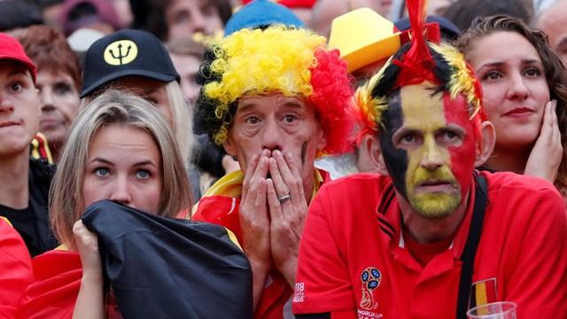 Treurnis bij de Belgische fans - fotograaf: Pro Shots