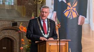 Andries Heidema, hier nog als burgemeester