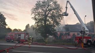 Brand in voormalig café De Vrolijkheid