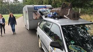 De caravans staan al klaar
